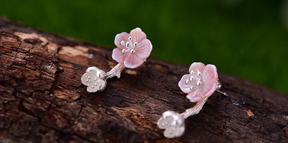 Handcrafted Carved Shell Begonia Flowers - Available in 2 Colors