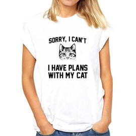 Plans with my Cat T-shirt - Available in 2 Colors!
