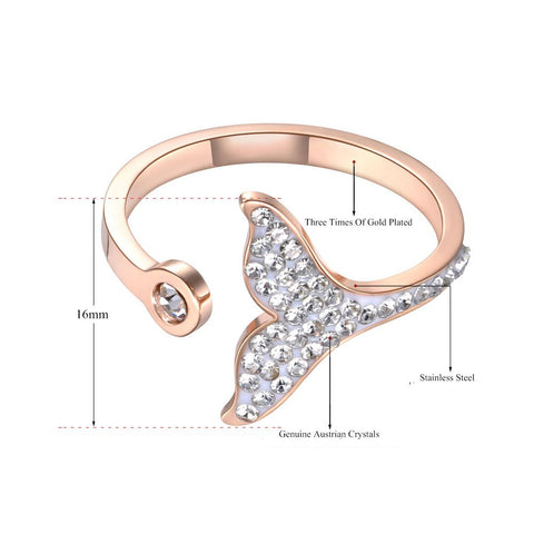 Crystal Mermaid Tail Ring