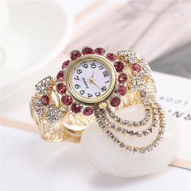 Dazzling Rhinestone Swag Luxury Fashion Quartz Watch :: Available in 6 Colors