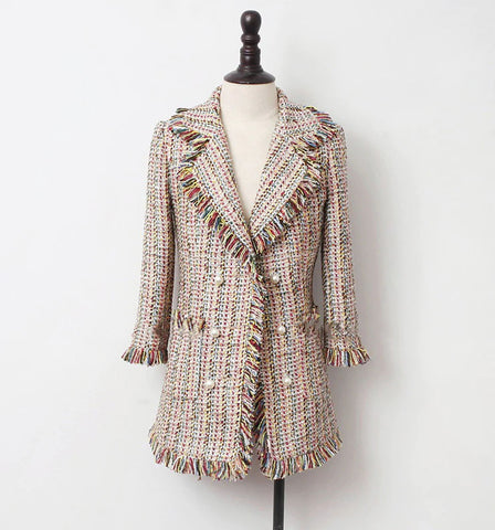 Boutique Collection :: Double Breasted Tweed Coat