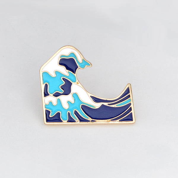 Blue Wave Enamel Lapel Pin