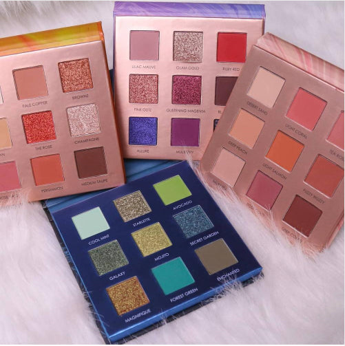 FOCAULLRE - Charming Collection 9-Color Pans - 4 Options
