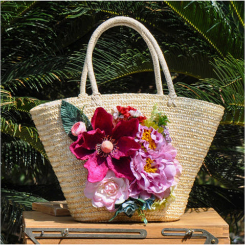 The Fanny ::  Handmade Summer Straw Tote :: Available in 3 Styles