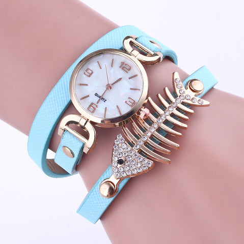 Ladies Luxury Quartz Watch - Whimsy Fishbone Design