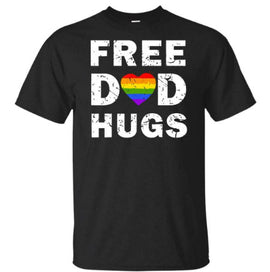 PRIDE Collection - Free Dad Hugs Cotton T-Shirt