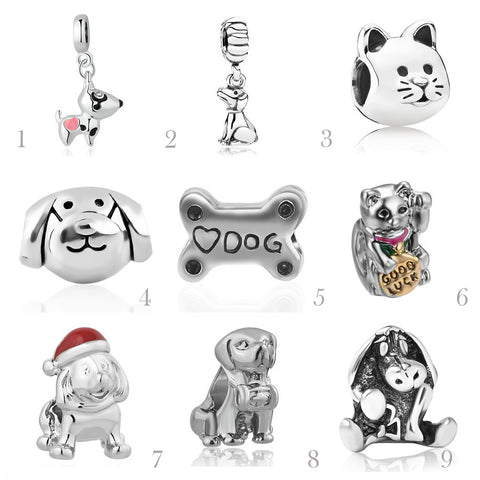 Furry Friends Love  Collection European Pandora Style Beads