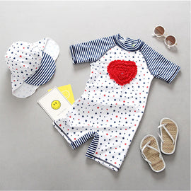 Hearts & Stars UV Protection Surf Set - 6M - 4T