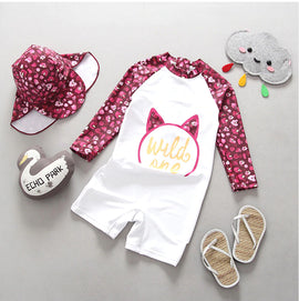 Wild One! Long Sleeve UV Protection Surf Set - 6M - 4T