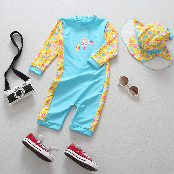 Spring Birdies UV Protection Surf Set - 6M - 4T