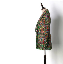 Boutique Collection :: Green Tweed Overcoat