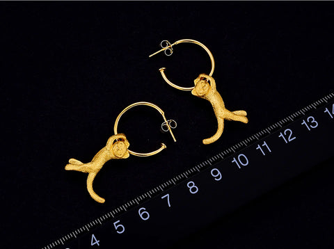 Handcrafted Hangin' with Kitty Earrings - Available in 2 Colors