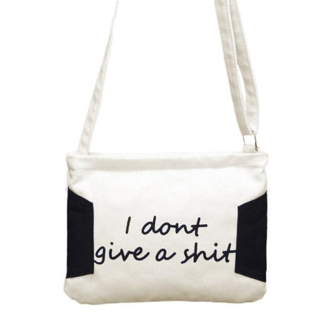 """I Don't Give A Shit"" Messenger Bag - Available in 2 Colors!"