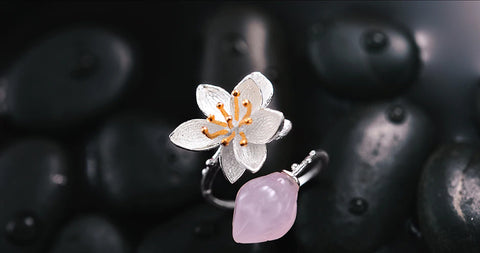 Handcrafted Lotus Whisper w/Rose Quartz