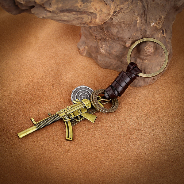 M-Style 2319 Vintage Bronze Rifle Key Chain