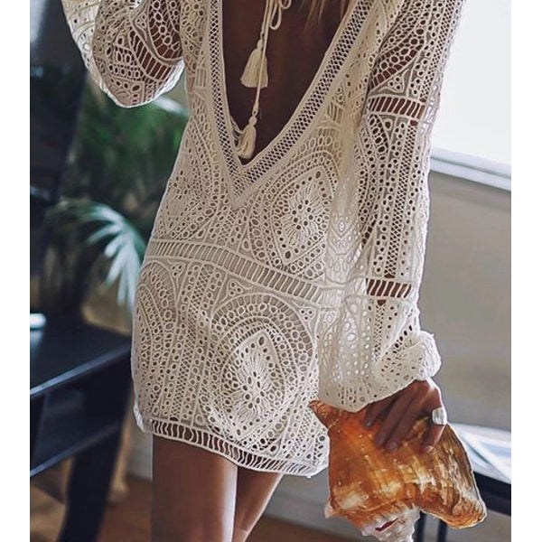 Bohemian Backless Summer Lace Mini dress