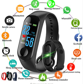 MFB2211 Maizy's Deluxe Feature Men's Fitness Band  :: Available in 3 colors! :: Limited Availability!