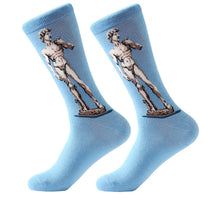 Men's Cotton Crew Socks - Masterpiece Collection - David - Michael Angelo