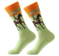 Men's Cotton Crew Socks - Masterpiece Collection - Polo Pony