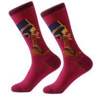 Men's Cotton Crew Socks - Masterpiece Collection - Nefertiti