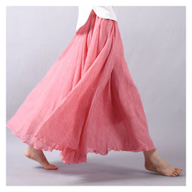 Summer Linen Gypsy Style Skirt