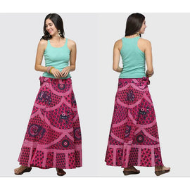 Boho Cotton High Waist Summer Casual Maxi Skirt  : Available in 8 Colors