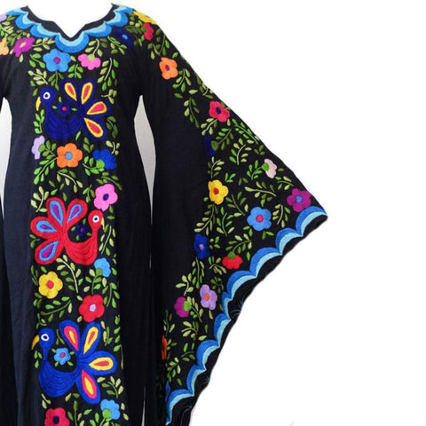 Vintage Hippie Embroidered Bell Sleeves