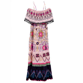 Boho Mandela Design Maxi Dress