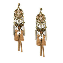 La Bohem Collection  - Royal Mandela Dream Catcher Tassel Earrings :: BEST SELLER!