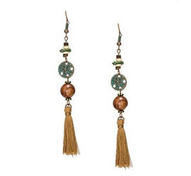 La Bohem Collection  - Dimpled Starfish Tassel Earrings