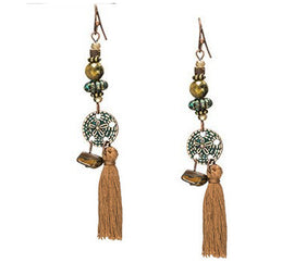 La Bohem Collection  - Dimpled Starfish Natural Stone Tassel Earrings