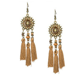 La Bohem Collection  - Rising Sun Dream Catcher Tassel Earrings