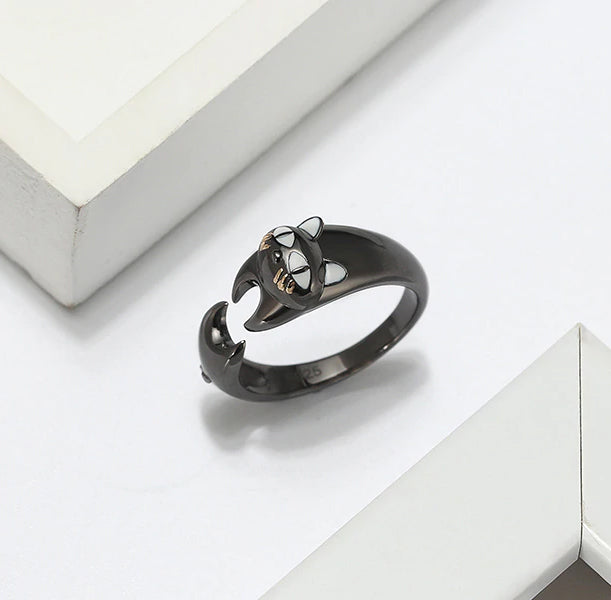 Naughty Cat Collection - Wrapped Around Your Finger  - Ring  - Genuine 925 Sterling Silver