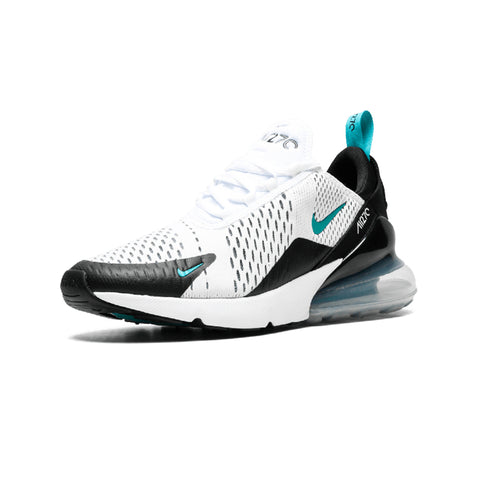 Nike Air Max 270 Men's Running Shoes -White/Black/Teal