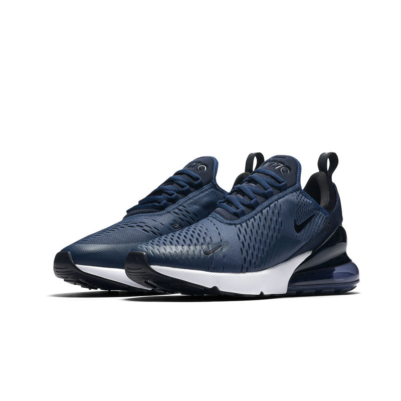 air max 270 navy blue and white