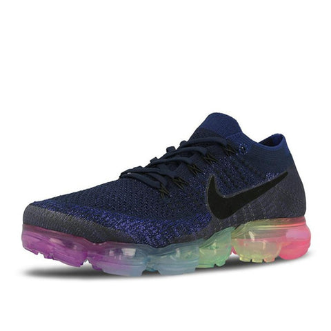 Nike Air Max Vapor Fly-knit Men's Running Shoes :: Navy/Rainbow