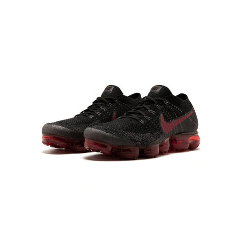 Nike Air Max Vapor Fly-knit Men's Running Shoes :: Black/Crimson