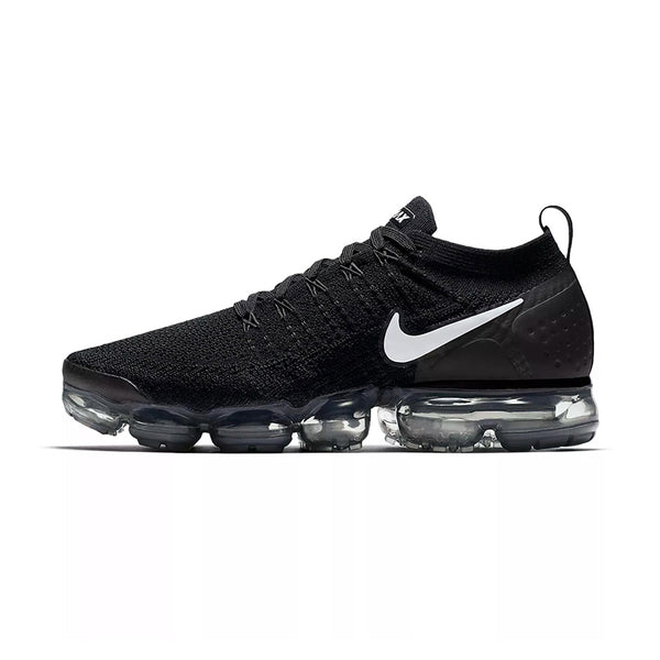 NIKE AIR VAPOR MAX KNIT Men's Running Shoes :: Black/White Swish