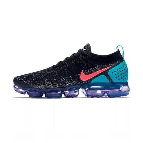NIKE AIR VAPOR MAX KNIT Men's Running Shoes :: Black/Teal/Pink Swish :: Limited Availability