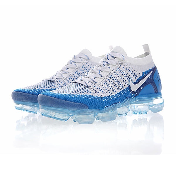 NIKE AIR VAPOR MAX KNIT Men's Running Shoes ::White/Sky Blue :: Limited Availability