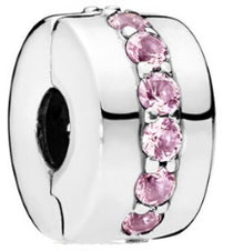Pink CZ Silver Security Bead