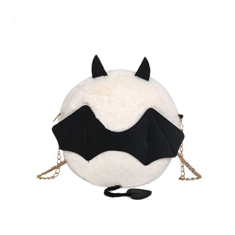 Novelty Collection - Little Devil Plush Bat Crossbody Bag  - Available in 4 Colors! - Seasonal Item