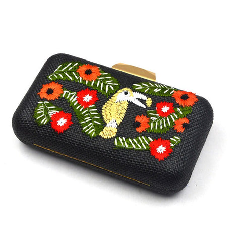 The Poppy - Handmade Straw Party Clutch - Available in 3 Colors!