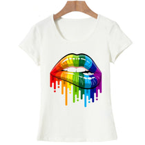 PRIDE Collection :: Rainbow Lips Cotton T-Shirt