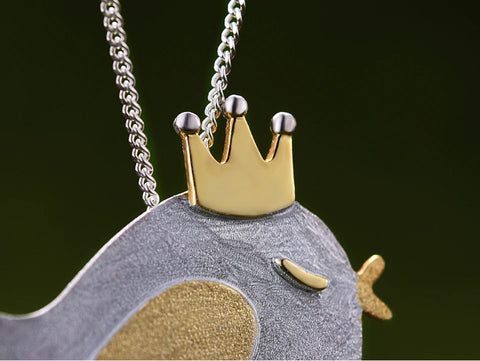 Handcrafted Princess Chickee Silver Necklace