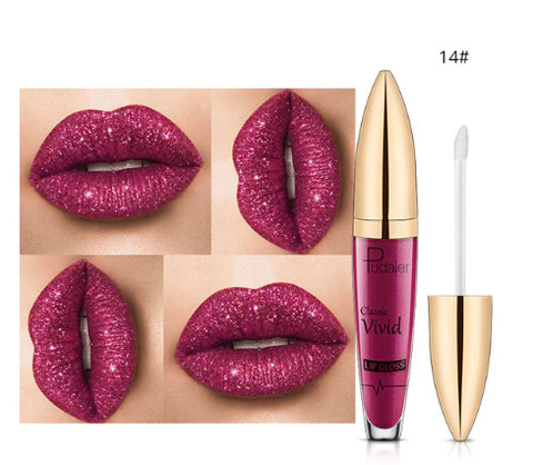 Pudaier Metallic Glitter Moisturizing Lip Gloss :: Available in 18 colors!