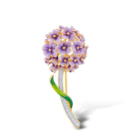 Purple & Sterling Silver Baby's Breath Luxury Brooch