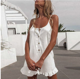 Boho Button Up Casual Romper - Available in 3 Colors