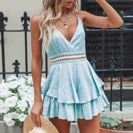 Boho Hollow Out Casual Romper
