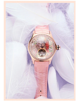 Reef Tiger - Parrot Series Diamond Parrot -  Luxury Ladies Fashion Watch